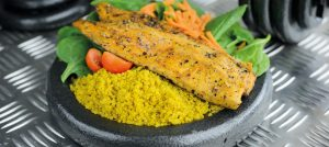 fish yellow rice macro meal